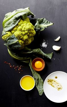 Food photography -- romanesco cauliflower