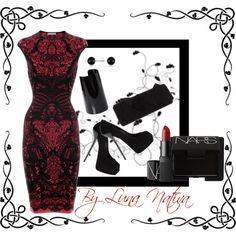 """Red and black dress"" by Luna Nativa"