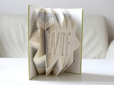 """Deko-Objekte - """"WTF ..."""" ° Gefaltetes Buch - ein Designerstück von KlausUndSo bei DaWanda"""