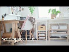 Art Workspace // Desk Tour + Organisation Tips · semiskimmedmin - YouTube