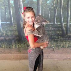 Mackenzie with a koala!