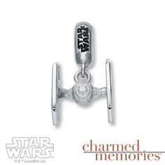Sterling Silver Kay Jewelers x Star Wars TIE Fighter bead charm ⭐️ Star Wars fashion ⭐️ Geek Fashion ⭐️ Star Wars Style ⭐️ Geek Chic ⭐️