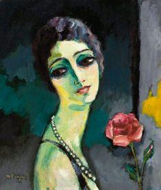 Kees van Dongen (Dutch, - Portrait de Madeleine Grey à la rose, 1929 - Oil on canvas Henri Matisse, Figure Painting, Painting & Drawing, Maurice De Vlaminck, Modern Art, Contemporary Art, Figurative Kunst, Georges Braque, Art Et Illustration