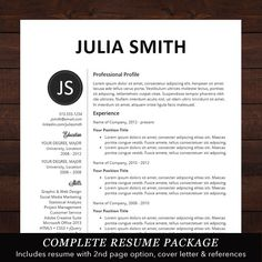 resume cv template professional resume design for word mac or pc free cover letter creative modern the kate - Free Creative Resume Templates For Mac