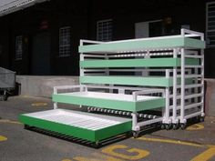 Bunk Bed Building: Nested Bunk Beds   I need this for the girls room!