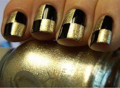 Chloe's Nails: Checkers anyone??