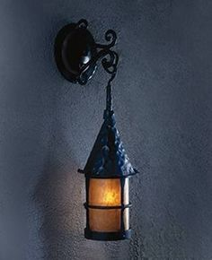 Mica Lamp Company Cottage Iron Wall Sconce, Vintage Black Fire