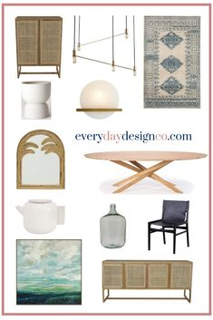My selection of must-haves for creating an inviting dining space.
