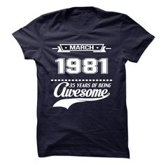 [Popular Tshirt name list] March 1981  Discount Codes  March 1981 Awesome  Tshirt Guys Lady Hodie  SHARE TAG FRIEND Get Discount Today Order now before we SELL OUT  Camping 33 years of being awesome birth tshirt march