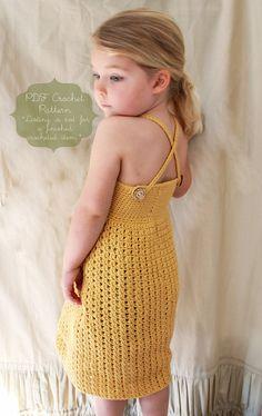 etsy shop full of adorable little girl's crochet patterns. love this dress.