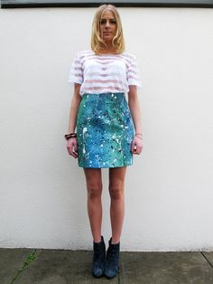 Paint Splatter Skirt. $59,00, via Etsy.