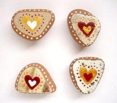 Valentine heart fridge magnets by Ludibund on Etsy, $18.00