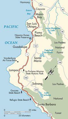 Pismo Beach Area Map Pismo Beach California Pismo Beach