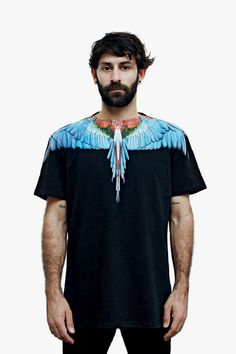 Italian designer Marcelo Burlon brings his iconographic vision to life on an unexpected canvas, unveiling a line of T-shirts in collaboration with graphic designer Giorgio Di Salvo.