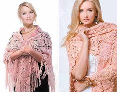 розовые шали