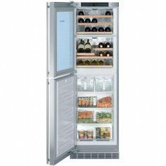"Liebherr WFI1061 24 Inch Wine Cellar by Liebherr. $4249.00. 24"""" Wine Cabinet/Freezer with Custom Panels, 4.4 cu. ft. Cabinet Capacity and 4.4 cu. ft. Freezer Capacity, Ice Maker, MagicEye Display"