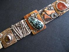 Mixed Metal Link Bracelet By Marilyn Bohanan