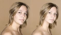Model without and with Photoshop. #beauty #real #fake #pretty #retouching #airbrush