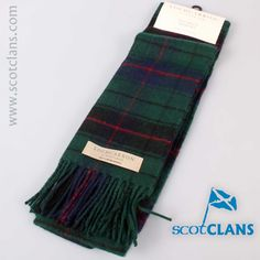 Davidson Lambswool Tartan Scarf. Free worldwide shipping available