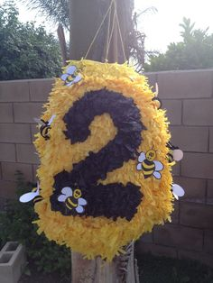 Custom Beehive Piñata For Childs Birthday Bumble Bee Theme on Etsy, Www.facebook.angelaspinatas