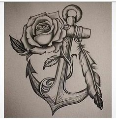Anchor Rose tattoo design I drew – Rose Tattoos Anklet Tattoos, Foot Tattoos, Body Art Tattoos, Sleeve Tattoos, Skull Tattoos, Flower Tattoos, Butterfly Tattoos, Lotus Tattoo, Anchor Drawings