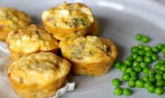 Mini bacon and pea frittatas