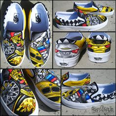 Autobahn Custom Hand Painted Vans Authentics Chadcantcolorcustoms.com  perfect gift for the car guy Painted 3ba9b074f9