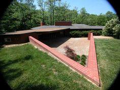Russell and Ruth Kraus Residence. Kirkwood, Missouri. 1951. Frank Lloyd Wright Usonian.