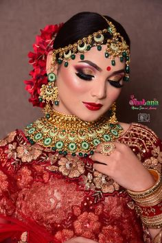 The gorgeous bride here made all head turned to her diva look on D-Day. .  Credits: Shabana Bridal Makeup Studio And Academy/saloon .⠀⠀⠀ .⠀⠀⠀ .⠀⠀⠀ .⠀⠀⠀ #If Its Wedding Planning, Its Shaadidukaan.com. Hire registered wedding vendors for your intimate wedding.⠀⠀⠀⠀ .⠀ .⠀ .⠀ .⠀ .⠀ .⠀ .⠀ .⠀ #makeup #beauty #makeupartist #mua #fashion #love #makeuptutorial #like #photography #beautiful #makeuplover #instagood #follow #style #model #skincare #instagram #maquiagem #shaadidukaan Bridal Hair And Makeup, Wedding Makeup, Hair Makeup, Makeup Studio, Flower Backdrop, Wedding Vendors, Artist At Work, Beautiful Bride, Backdrops