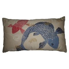 - Koi Fish Decorative Pillow must have at our new home to go with the real ones!