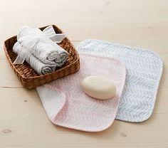 Arrow Organic Washcloth, Set of 3 #pbkids $19.99. Beautiful and unique.