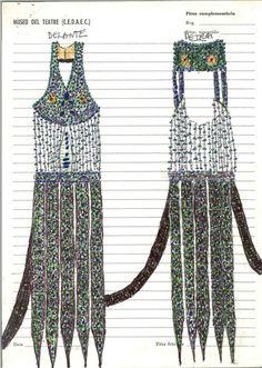Vestit de Tórtola Valencia a Danza árabe Data 1912 - 1930 ca.  MAE: I 042 Registre 252404  Tipologia: Col·lecció Indumentària Espectacle: Danza árabe. [Dansa] Escena Digital (http://colleccions.cdmae.cat/catalog/bdam:252404)