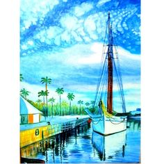 Yacht at the Berth  original oil painting 1181575 by ArtByTatianaZ, $80.00