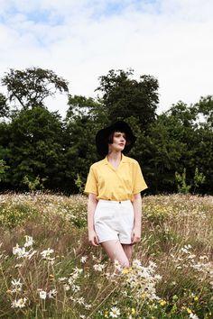 Vintage Sunshine Yellow Shirt by MoodyBlueVintage on Etsy