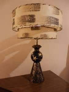 Incredibly atomic lamp and shade.  Love the double tiered shade and golden highlighted lamp base