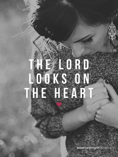 The Lord looks on the heart  1 Samuel 16:7   #30DaysOfBibleLettering