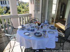Tea Table Setting with Russian Lomonosov Porcelain