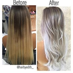 COLOR CORRECTION: Spotty Blonde To Lovely Violet Ash - Hair Color - Modern Salon Grey Blonde, Blonde Color, Ash Blonde Hair Silver, Ice Blonde Hair, Golden Blonde, Golden Brown, Ash Hair, Ombre Hair, Lilac Hair