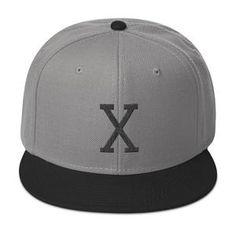 Malcom Black Letter X Flat Embroidery, Snapback Hat Black Letter, Snapback Hats, Baseball Hats, Flats, Lettering, Embroidery, Loafers & Slip Ons, Baseball Caps, Needlepoint