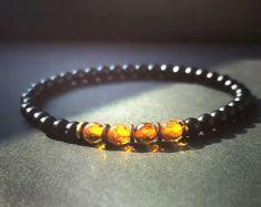 Handmade crystal bracelets for men and by ProtectiveGemstones