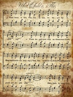 5 Best Images of Christmas Music Sheets Printable - Printable Vintage Christmas Music, Printable Vintage Christmas Sheet Music and Printable Vintage Christmas Sheet Music Papel Vintage, Vintage Cards, Vintage Paper, Vintage Room, Vintage Diy, Vintage Design, Christmas Carol, Vintage Christmas, Christmas Diy