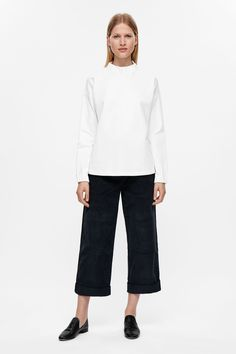 COS image 6 of Elastic collar top in White