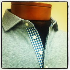 @vastrm latest design.  Heather grey with blue/black gingham check accents.