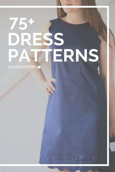 Learn how to sew a wide variety of dresses with these free dress patterns. (pictured: Seriously Scalloped Dress) patterns, Free Dress Patterns for Sewing Sewing Dress, Dress Sewing Tutorials, Dress Sewing Patterns, Sewing Patterns Free, Free Sewing, Sewing Clothes, Sewing Hacks, Clothing Patterns, Sewing Tips