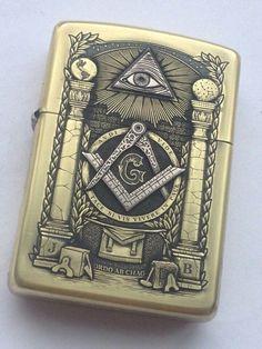 masones Zippo Collection, Masonic Symbols, Masonic Art, Cool Lighters, Cigar Club, Mens Toys, Steampunk, Light My Fire, Art Deco Design