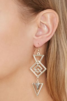 Geo-Shaped Drop Earrings
