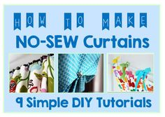 no sew curtains cheer and cherry 1