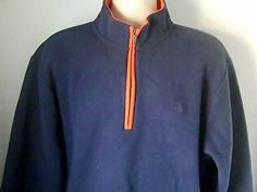 Brooks Brothers XL Blue Orange Fleece Jacket Shirt Polyester #BrooksBrothers #fleece
