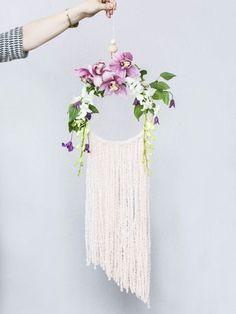 DIY le capteur de rêves le plus végétal fleurs / Dreamcatcher