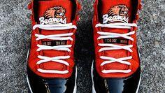 "Air Jordan 11 ""Oregon State"" Custom for Jacquizz Rodgers"